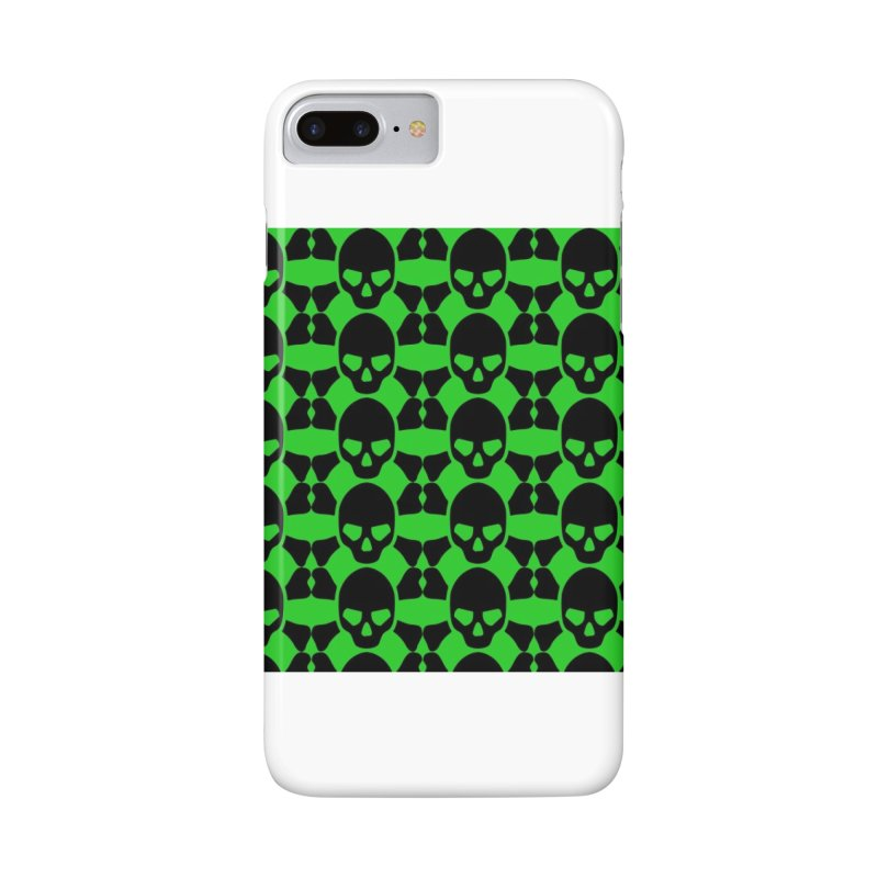 skull x pattern green Accessories Phone Case by Stellarevolutiondesigns's Artist Shop