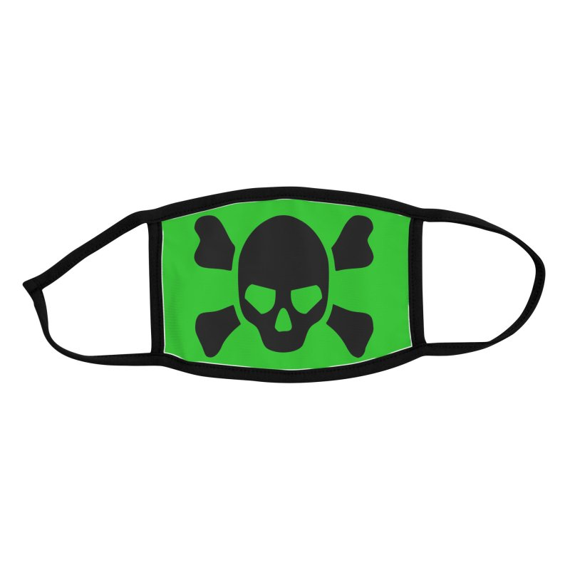 skull x green large Accessories Face Mask by Stellarevolutiondesigns's Artist Shop
