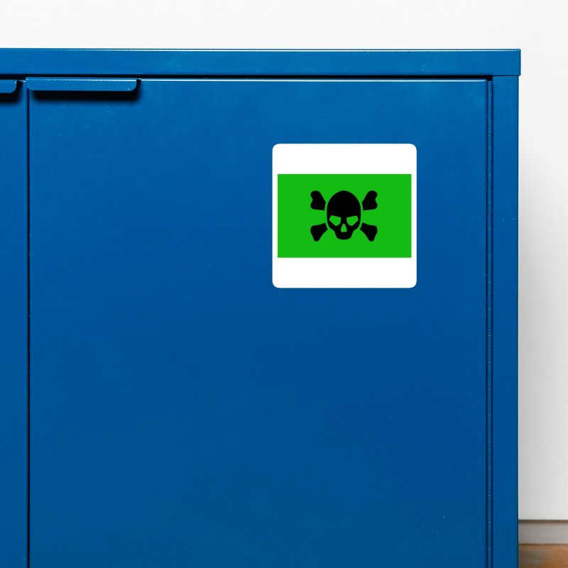 skull x green large Accessories Magnet by Stellarevolutiondesigns's Artist Shop
