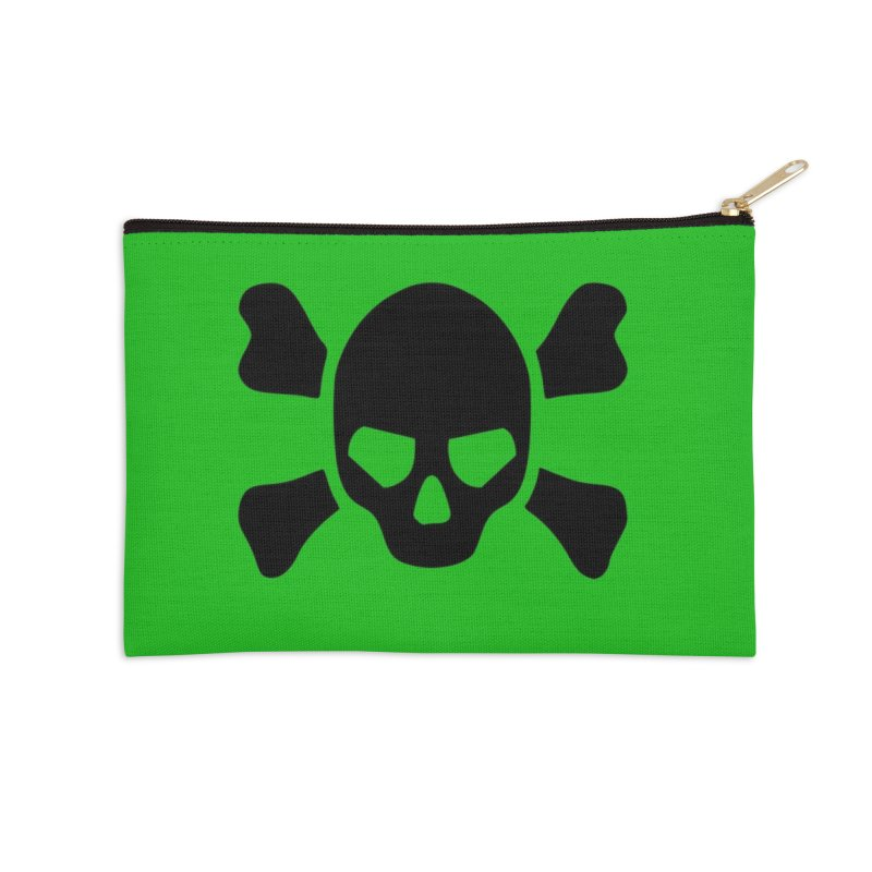 skull x green large Accessories Zip Pouch by Stellarevolutiondesigns's Artist Shop