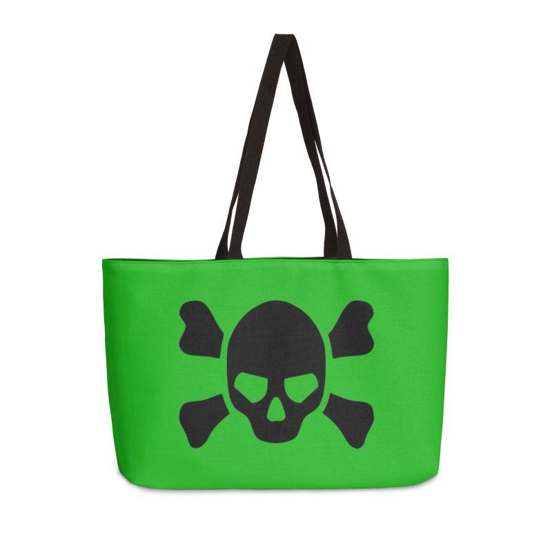 skull x green large Accessories Bag by Stellarevolutiondesigns's Artist Shop