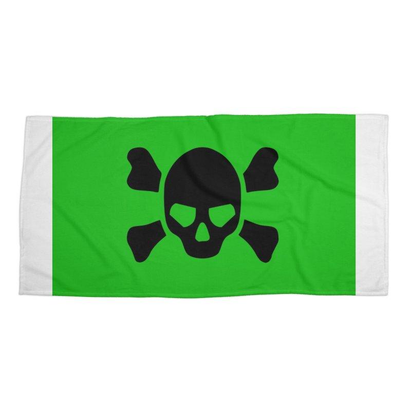 skull x green large Accessories Beach Towel by Stellarevolutiondesigns's Artist Shop