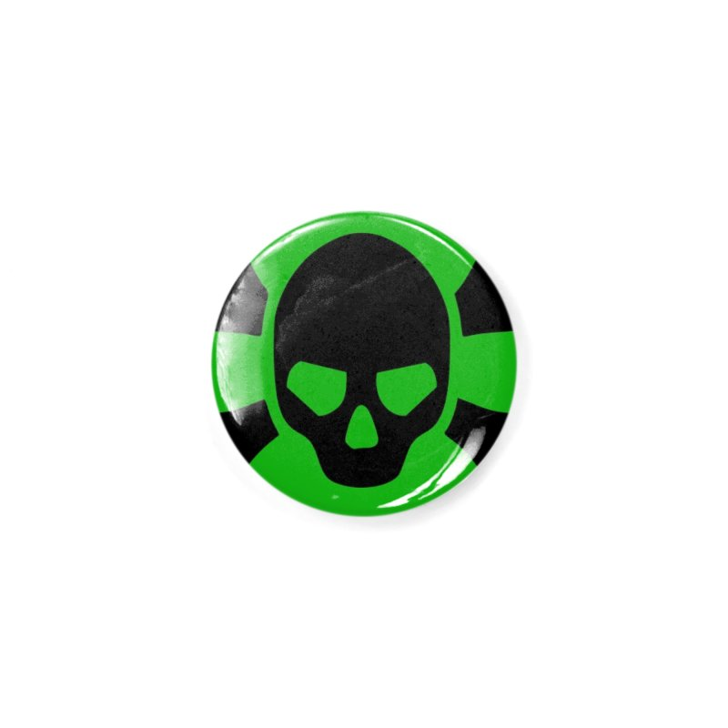 skull x green large Accessories Button by Stellarevolutiondesigns's Artist Shop