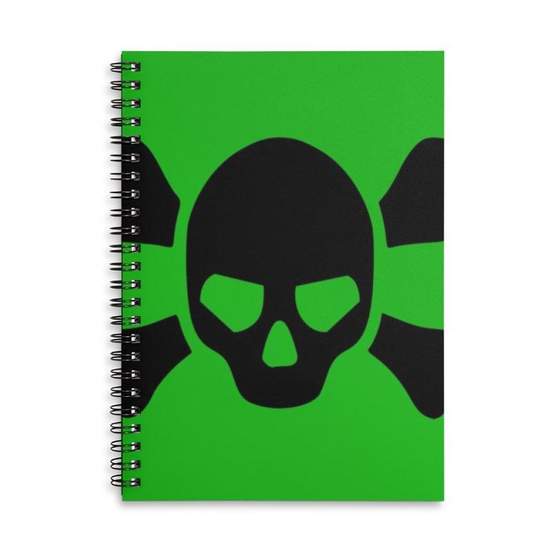 skull x green large Accessories Notebook by Stellarevolutiondesigns's Artist Shop