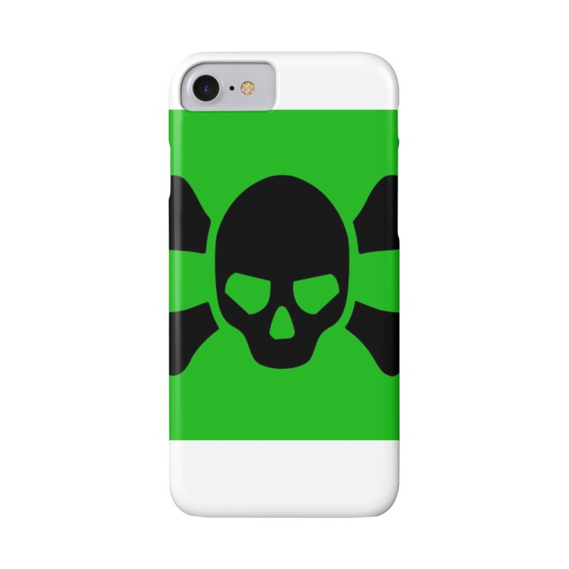 skull x green large Accessories Phone Case by Stellarevolutiondesigns's Artist Shop