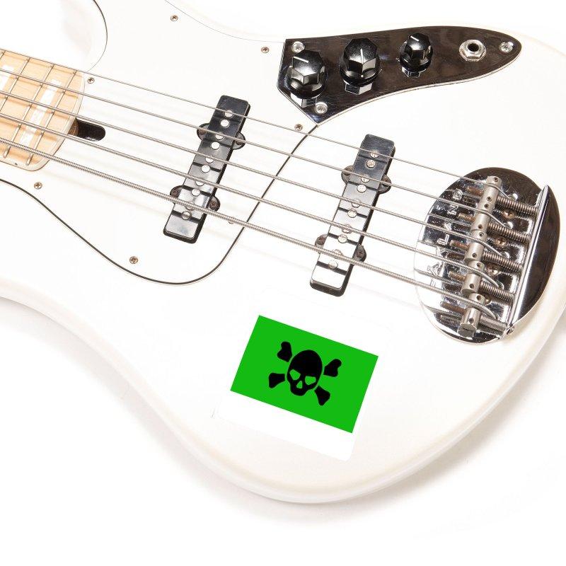 skull x green large Accessories Sticker by Stellarevolutiondesigns's Artist Shop