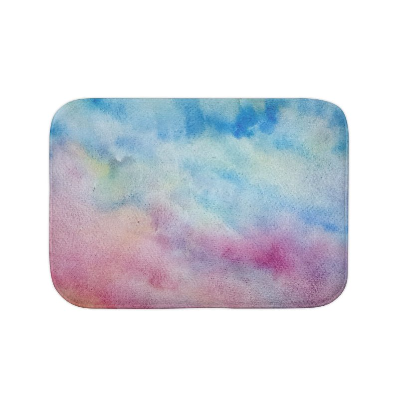 colourful clouds Home Bath Mat by Stellarevolutiondesigns's Artist Shop