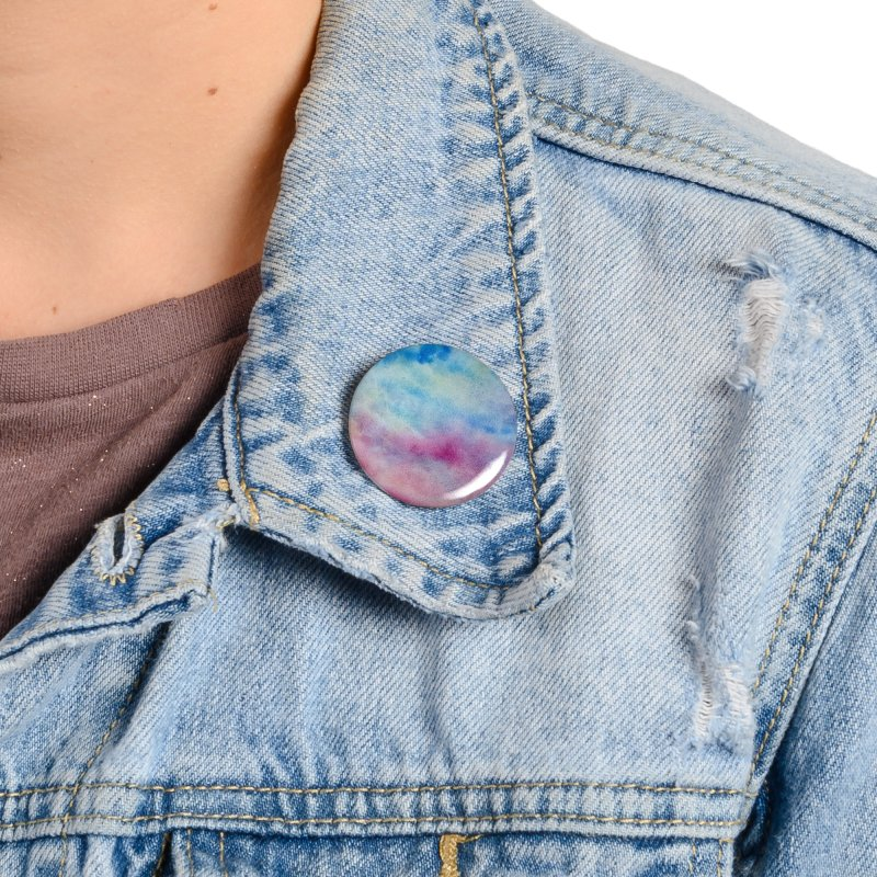 colourful clouds Accessories Button by Stellarevolutiondesigns's Artist Shop