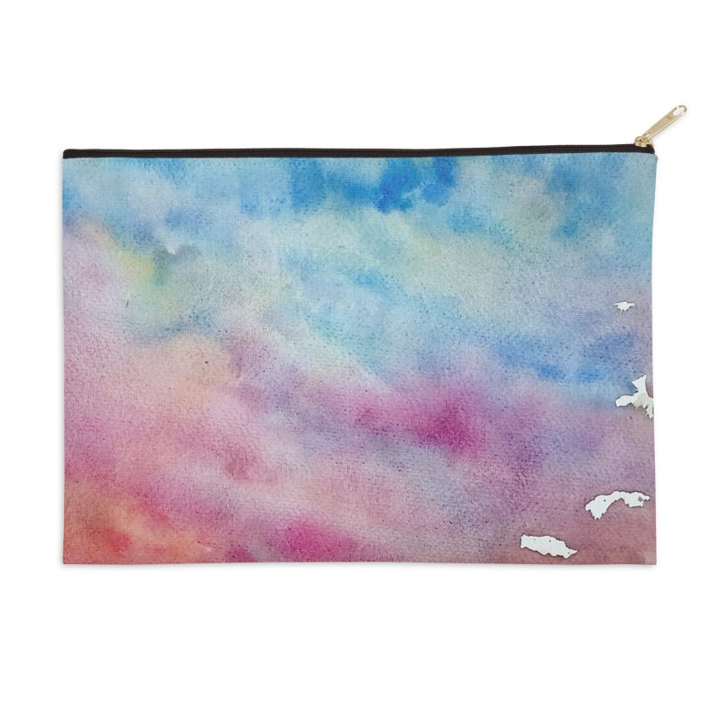 colourful clouds Accessories Zip Pouch by Stellarevolutiondesigns's Artist Shop