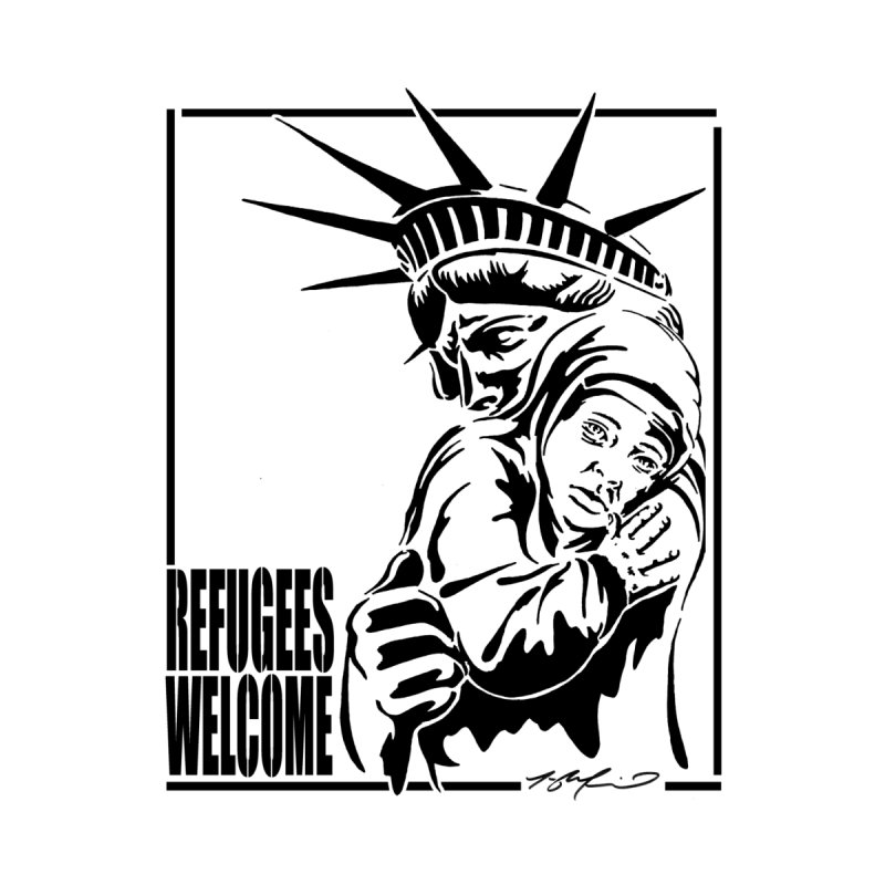 Refugees Welcome   by StencilActiv's Shop