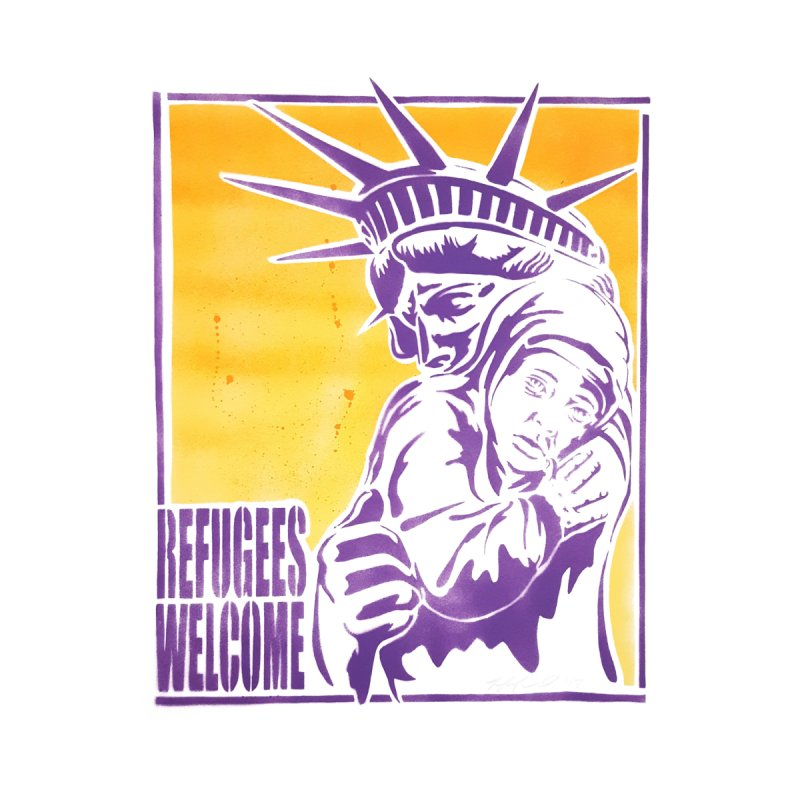 Refugees Welcome - color version None  by StencilActiv's Shop