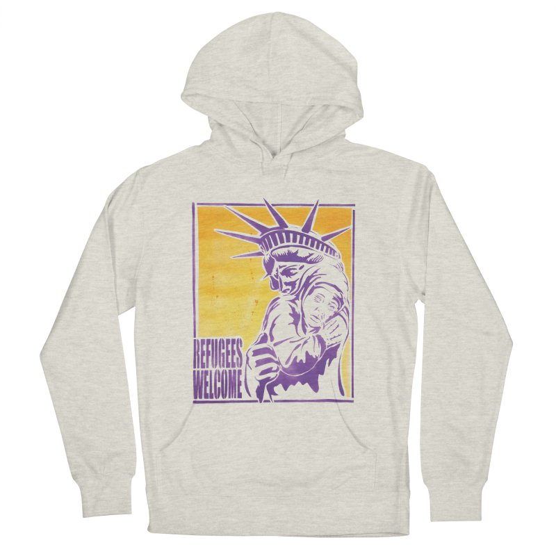 Refugees Welcome - color version Men's Pullover Hoody by StencilActiv's Shop