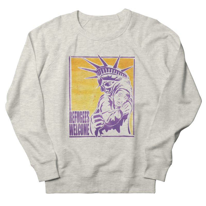 Refugees Welcome - color version Men's Sweatshirt by StencilActiv's Shop