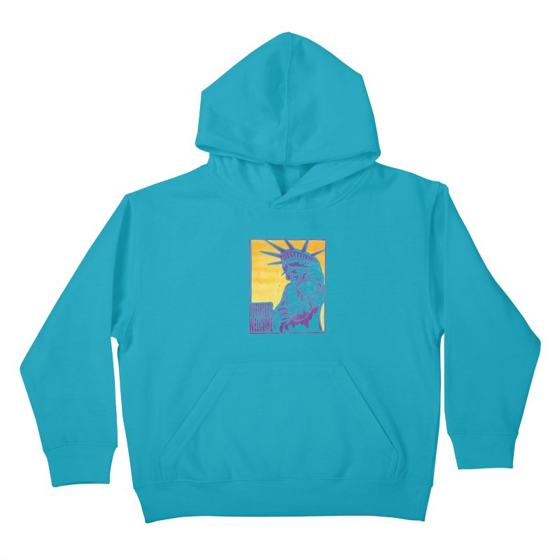 Refugees Welcome - color version Kids Pullover Hoody by StencilActiv's Shop
