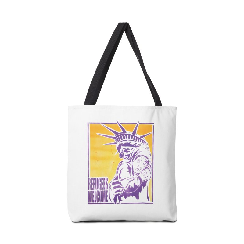 Refugees Welcome - color version Accessories Bag by StencilActiv's Shop