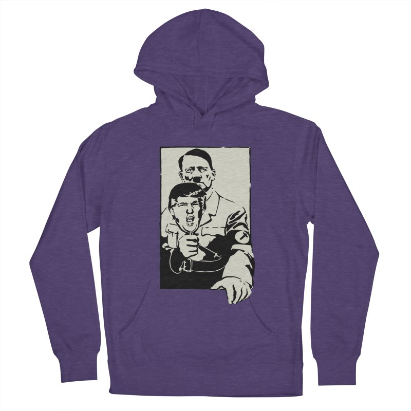 Hitler with Trump mask (based on 1968 Paris Riots Poster) Women's Pullover Hoody by StencilActiv's Shop
