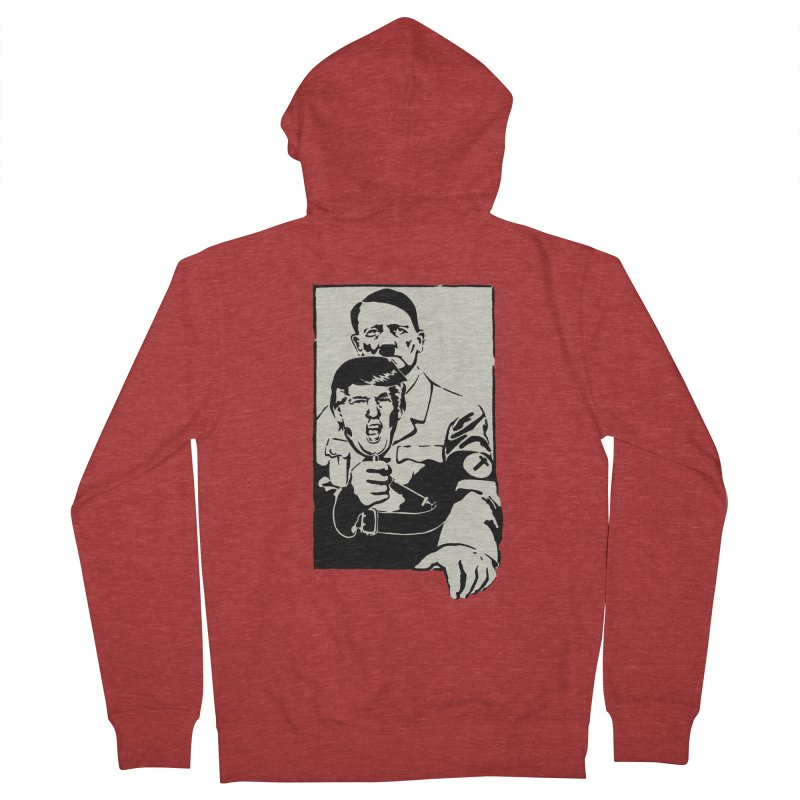 Hitler with Trump mask (based on 1968 Paris Riots Poster) Women's Zip-Up Hoody by StencilActiv's Shop