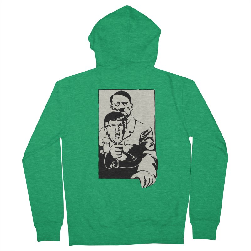 Hitler with Trump mask (based on 1968 Paris Riots Poster) Men's Zip-Up Hoody by StencilActiv's Shop