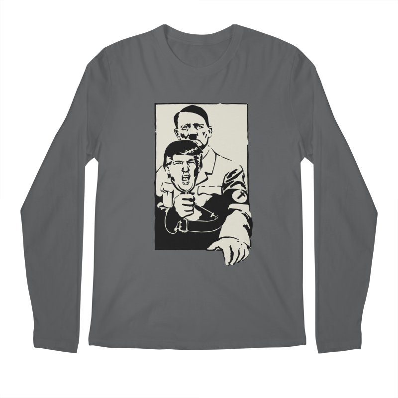 Hitler with Trump mask (based on 1968 Paris Riots Poster) Men's Longsleeve T-Shirt by StencilActiv's Shop