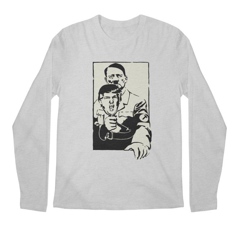 Hitler with Trump mask (based on 1968 Paris Riots Poster) Men's Longsleeve T-Shirt by StencilActiv's Shop
