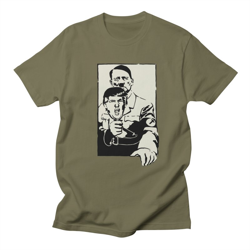 Hitler with Trump mask (based on 1968 Paris Riots Poster) Women's Unisex T-Shirt by StencilActiv's Shop
