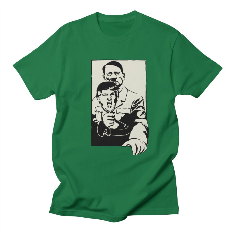 Hitler with Trump mask (based on 1968 Paris Riots Poster) Women's Unisex T-Shirt by StencilActiv's Shop