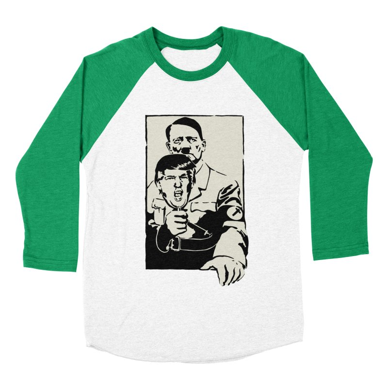 Hitler with Trump mask (based on 1968 Paris Riots Poster) Women's Baseball Triblend T-Shirt by StencilActiv's Shop
