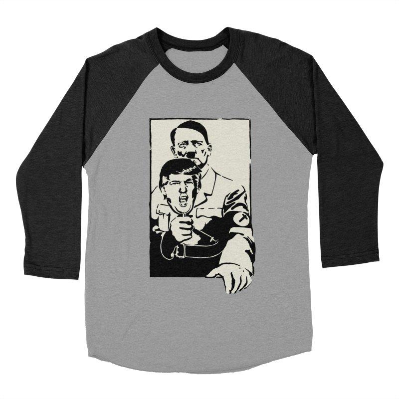 Hitler with Trump mask (based on 1968 Paris Riots Poster) Men's Baseball Triblend T-Shirt by StencilActiv's Shop