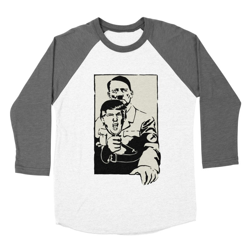 Hitler with Trump mask (based on 1968 Paris Riots Poster) Men's Baseball Triblend T-Shirt by StencilActiv's Shop