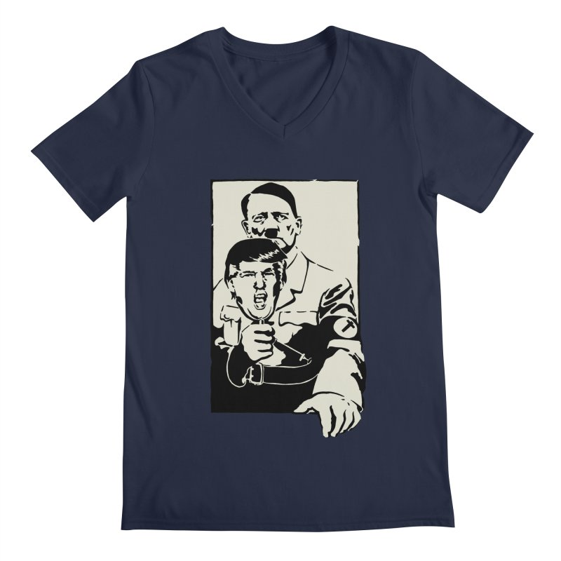 Hitler with Trump mask (based on 1968 Paris Riots Poster) Men's V-Neck by StencilActiv's Shop