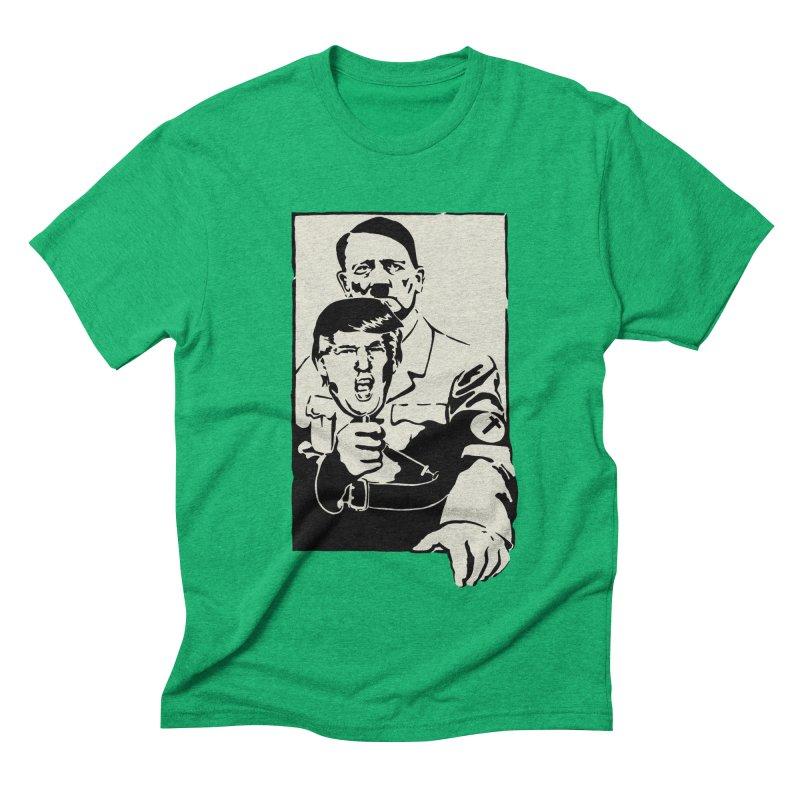 Hitler with Trump mask (based on 1968 Paris Riots Poster) Men's Triblend T-shirt by StencilActiv's Shop