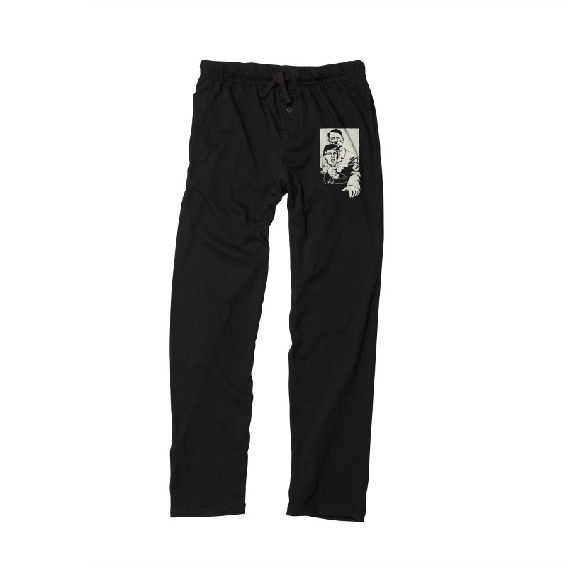 Hitler with Trump mask (based on 1968 Paris Riots Poster) Men's Lounge Pants by StencilActiv's Shop