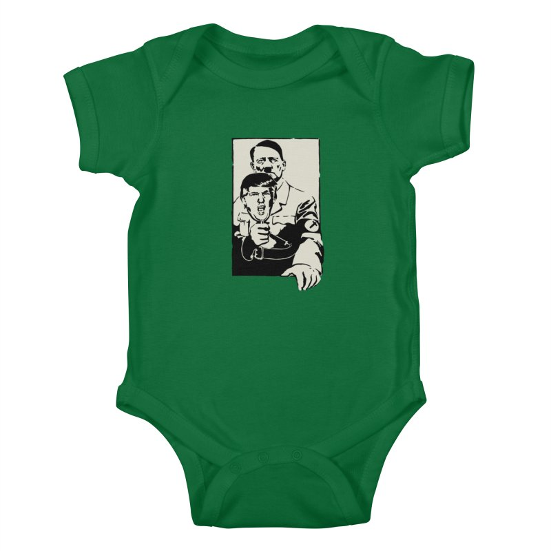 Hitler with Trump mask (based on 1968 Paris Riots Poster) Kids Baby Bodysuit by StencilActiv's Shop