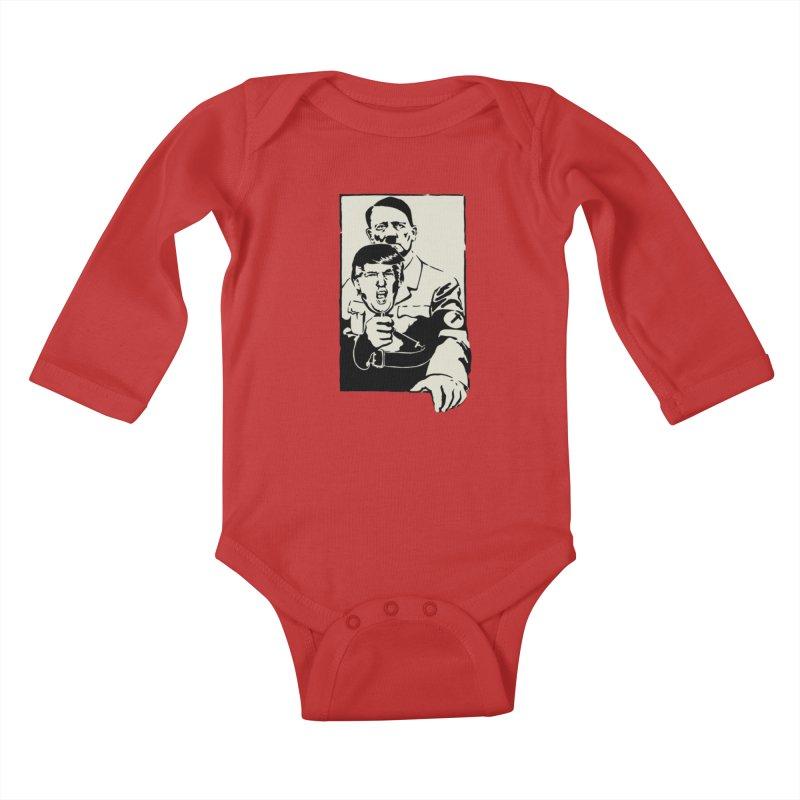 Hitler with Trump mask (based on 1968 Paris Riots Poster) Kids Baby Longsleeve Bodysuit by StencilActiv's Shop