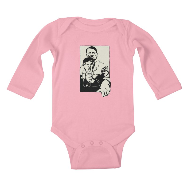 Hitler with Trump mask (based on 1968 Paris Riots Poster) Kids Baby Longsleeve Bodysuit by StencilActiv's Shop