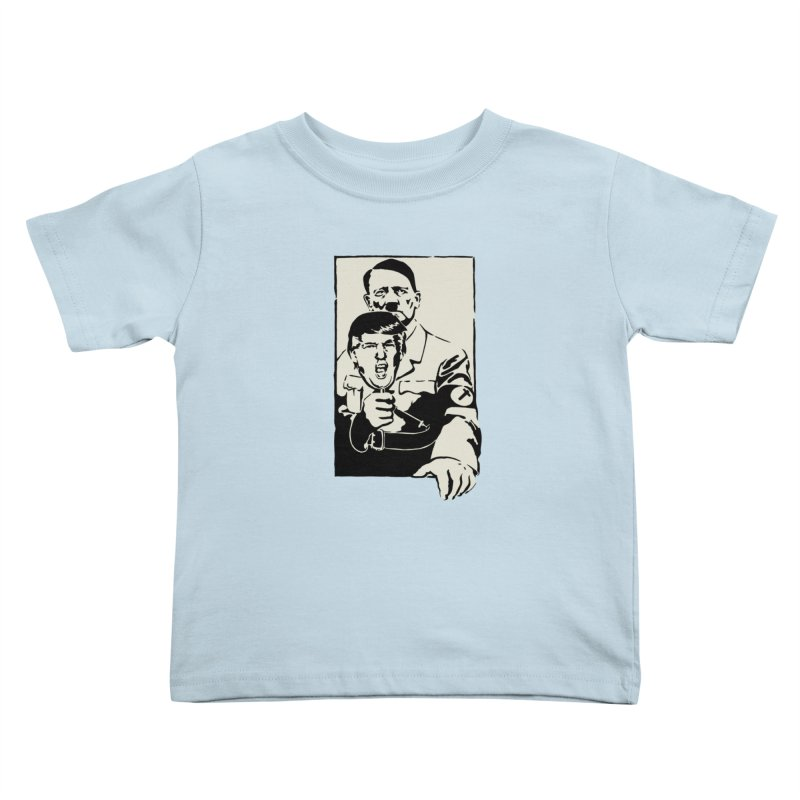 Hitler with Trump mask (based on 1968 Paris Riots Poster) Kids Toddler T-Shirt by StencilActiv's Shop