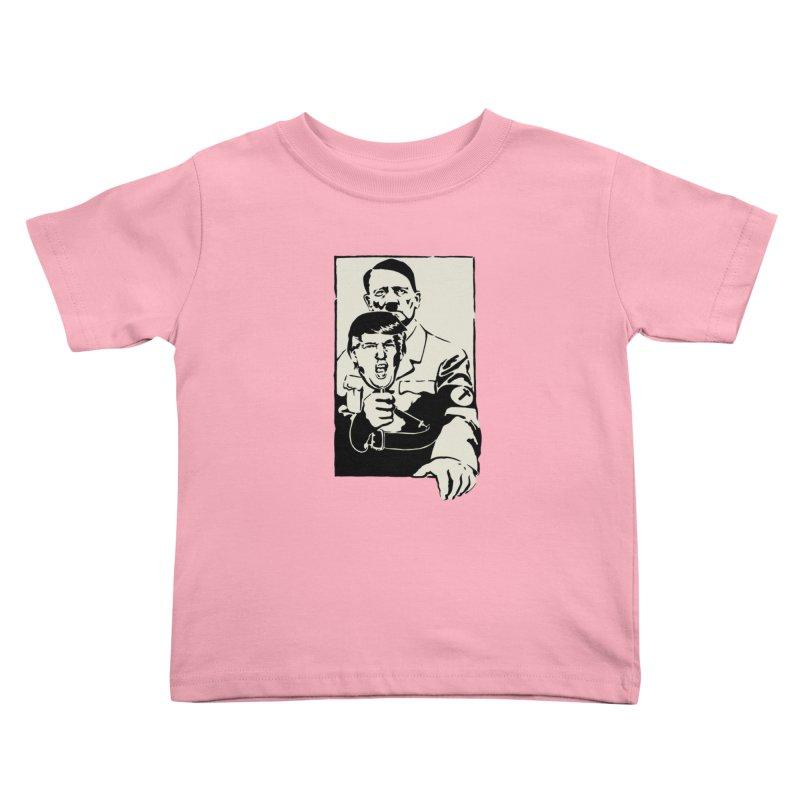 Hitler with Trump mask (based on 1968 Paris Riots Poster) Kids Toddler T-Shirt by StencilActiv's Shop