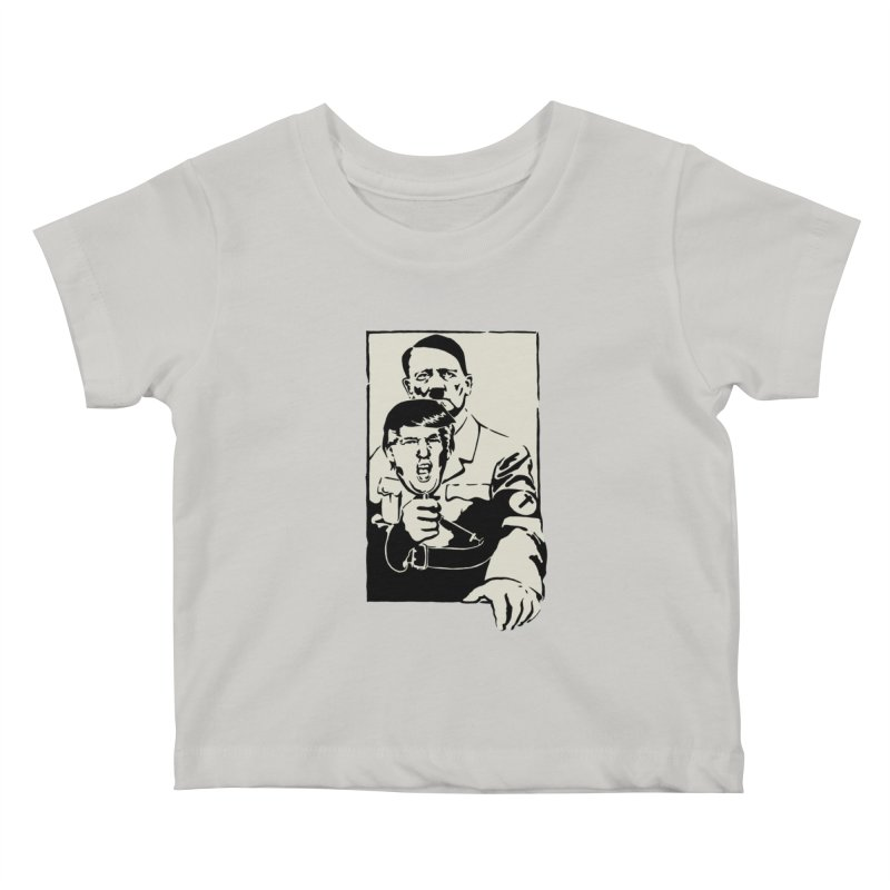 Hitler with Trump mask (based on 1968 Paris Riots Poster) Kids Baby T-Shirt by StencilActiv's Shop