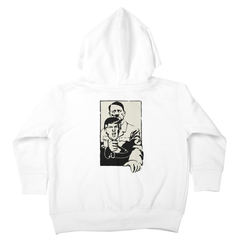 Hitler with Trump mask (based on 1968 Paris Riots Poster) Kids Toddler Zip-Up Hoody by StencilActiv's Shop