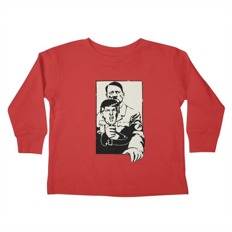 Hitler with Trump mask (based on 1968 Paris Riots Poster) Kids Toddler Longsleeve T-Shirt by StencilActiv's Shop