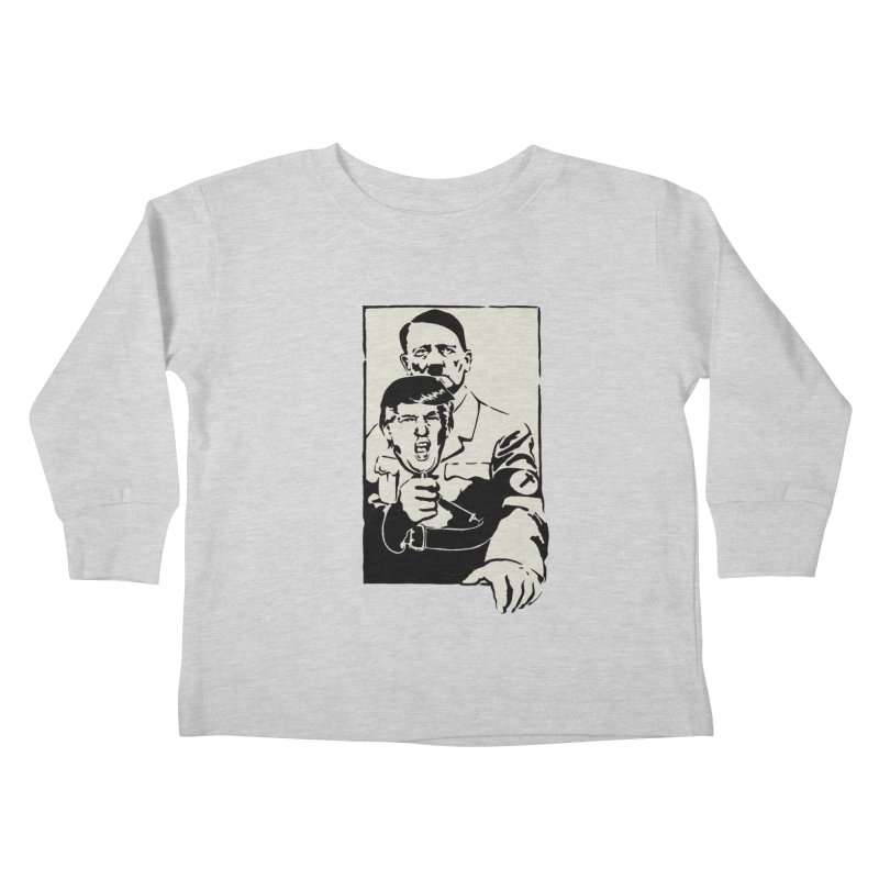 Hitler with Trump mask (based on 1968 Paris Riots Poster) Kids Toddler Longsleeve T-Shirt by StencilActiv's Shop