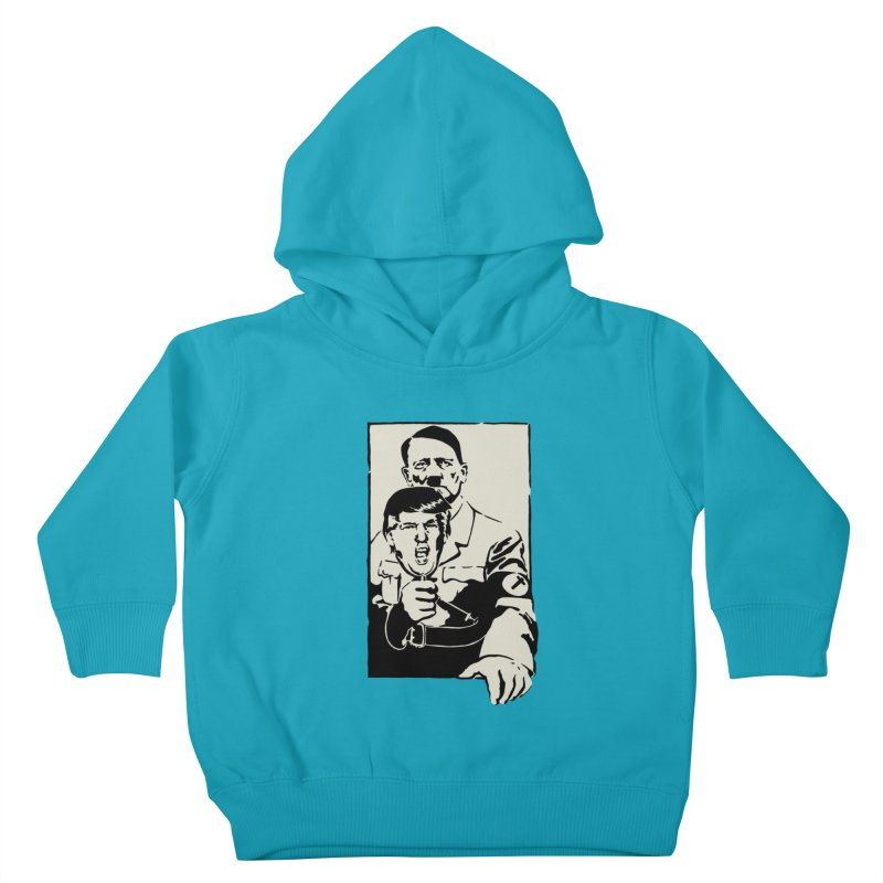 Hitler with Trump mask (based on 1968 Paris Riots Poster) Kids Toddler Pullover Hoody by StencilActiv's Shop