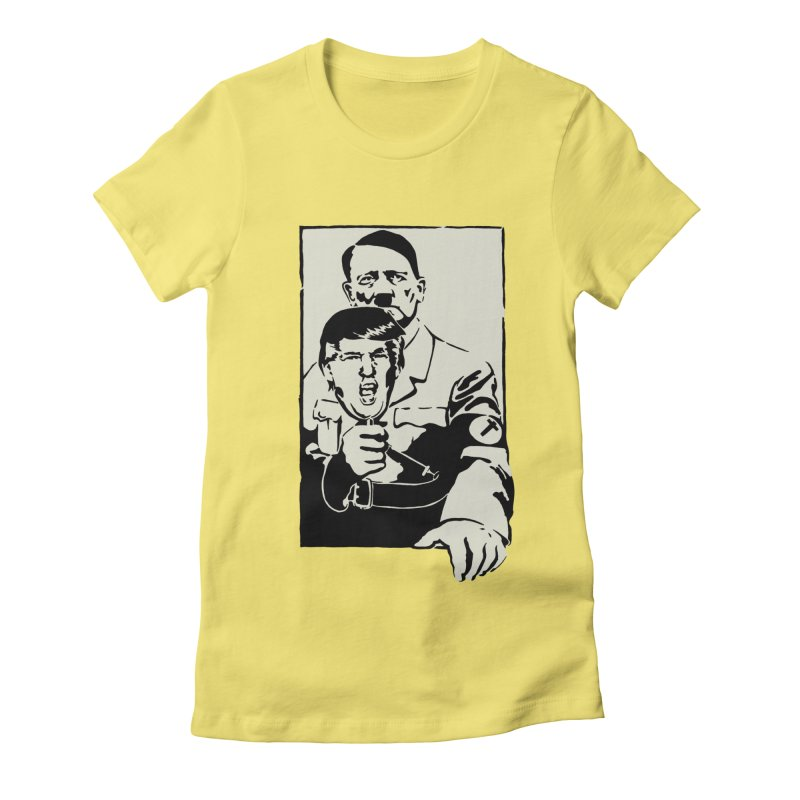Hitler with Trump mask (based on 1968 Paris Riots Poster) Women's Fitted T-Shirt by StencilActiv's Shop