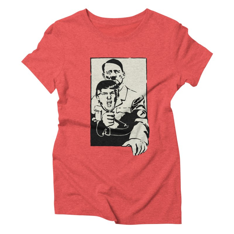 Hitler with Trump mask (based on 1968 Paris Riots Poster) Women's Triblend T-shirt by StencilActiv's Shop