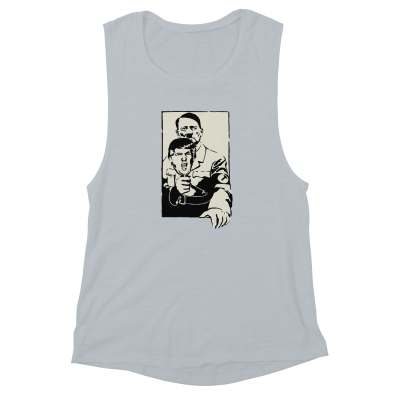 Hitler with Trump mask (based on 1968 Paris Riots Poster) Women's Muscle Tank by StencilActiv's Shop