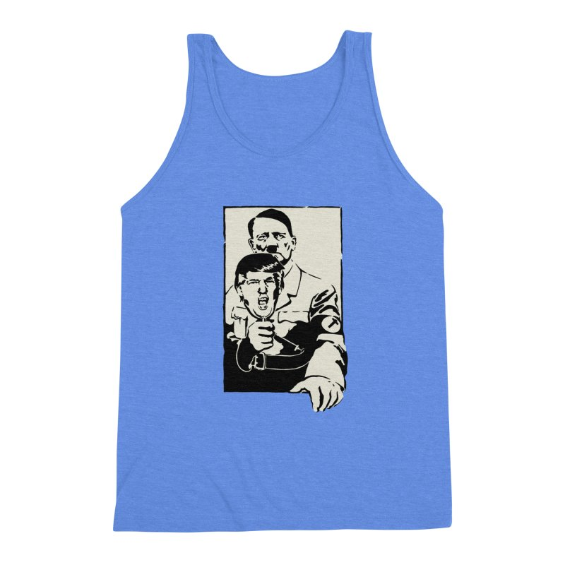 Hitler with Trump mask (based on 1968 Paris Riots Poster) Men's Triblend Tank by StencilActiv's Shop