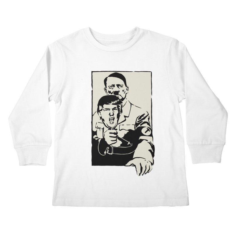 Hitler with Trump mask (based on 1968 Paris Riots Poster) Kids Longsleeve T-Shirt by StencilActiv's Shop