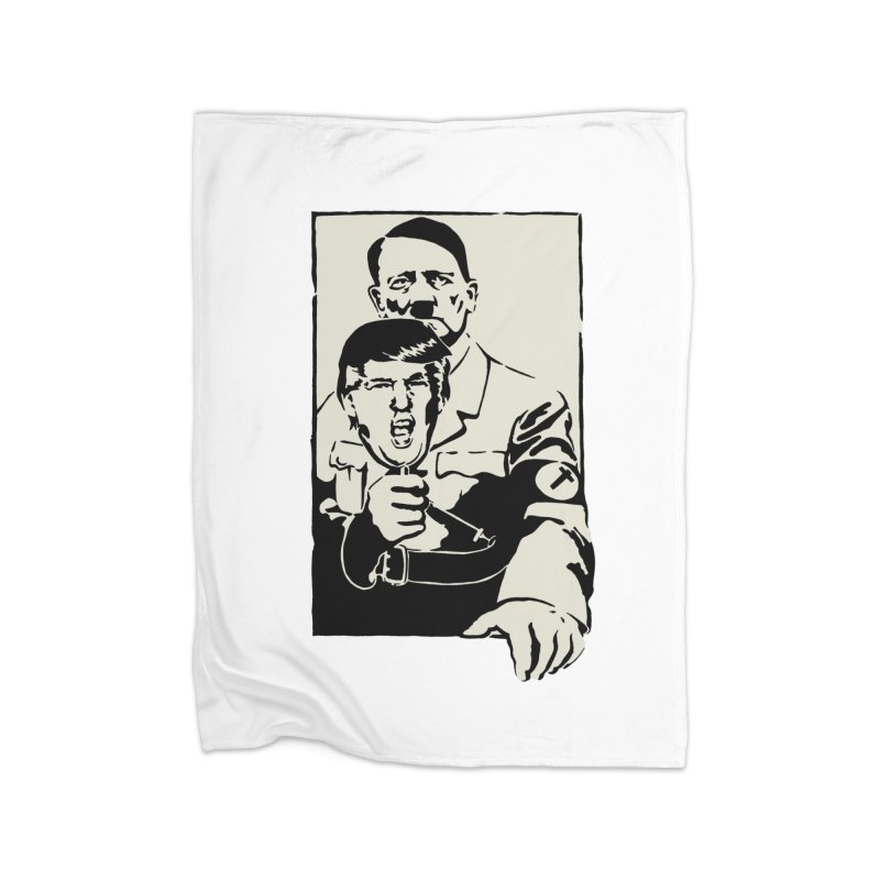 Hitler with Trump mask (based on 1968 Paris Riots Poster) Home Blanket by StencilActiv's Shop