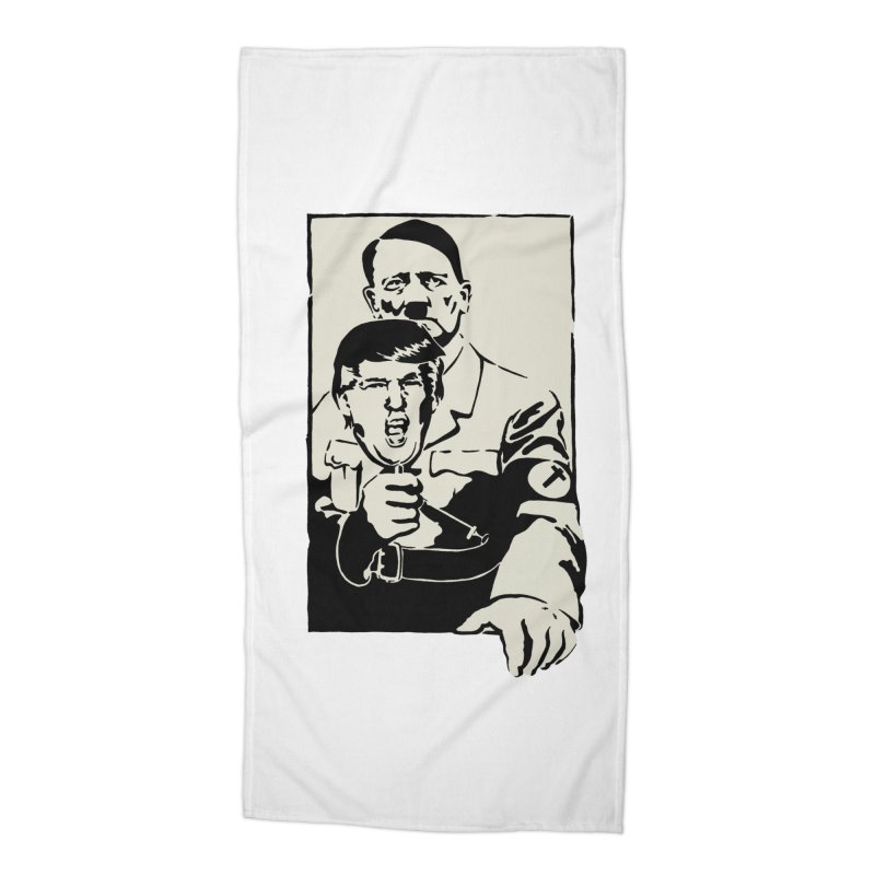 Hitler with Trump mask (based on 1968 Paris Riots Poster) Accessories Beach Towel by StencilActiv's Shop