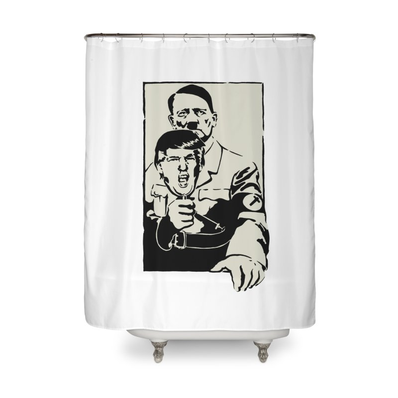 Hitler with Trump mask (based on 1968 Paris Riots Poster) Home Shower Curtain by StencilActiv's Shop